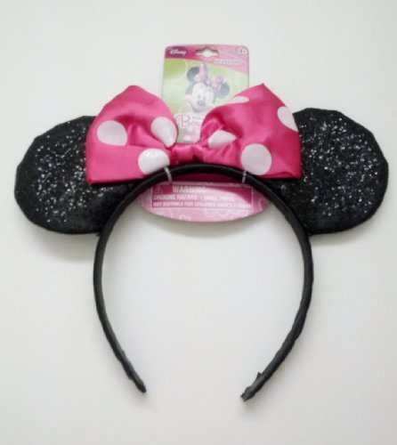 Licensed Minnie Mouse KIDS Costume Cartoon Dress-Up Headband - PINK POLKA