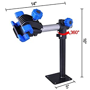 Blue Work Bench Mount Bicycle Repair Stand Mechanic Workstand