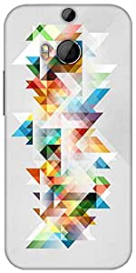 Snoogg Abstract Colourful Theme Designer Protective Back Case Cover For HTC M8