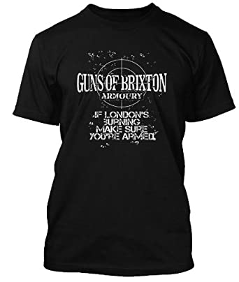 Clash Guns of Brixton Armoury T-shirt - Clash T-shirt, Herren, Small, Schwarz