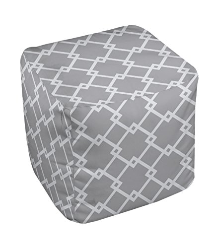 E by design FG-N10A-Classic_Gray-18 Geometric Pouf