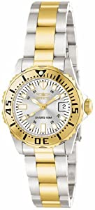 Invicta Lady's 14371 Pro Diver Quartz 3 Hand Silver Dial Watch
