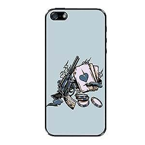 Vibhar printed case back cover for Apple iPhone 5s GunPooker