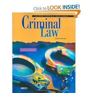 Black Letter Outline on Criminal Law 2nd Second edition byDressler