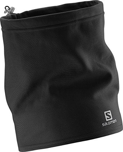 Salomon L35305900 Cappello-Sciarpa Unisex Multisport, Indossabile con gli occhiali, Con laccio, Riflettente, Momentum Tube, Nero