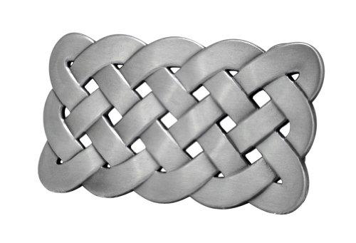 Buckle Rage Adult Unisex Celtic Knot Mesh Design Medieval Belt Buckle Silver