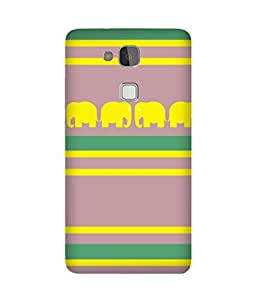 Stripes And Elephant Print (28) Huawei Ascend Mate 7 Case