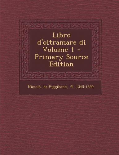 Libro D'Oltramare Di Volume 1