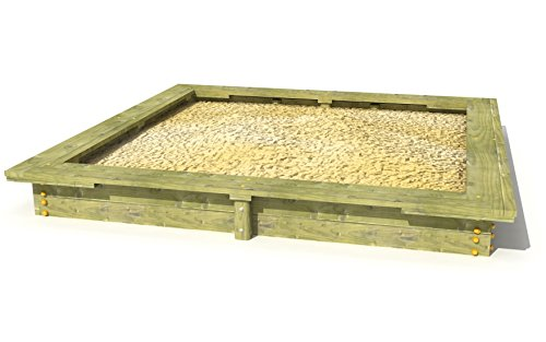 Sandkasten 2x2m Kiefer mit Sitzflächen