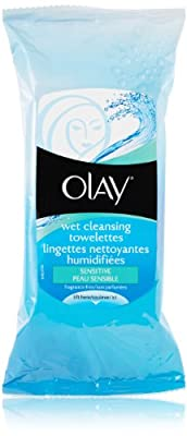 Olay Wet Cleansing Towelettes, Sensitive, Fragrance-Free, 30 Count