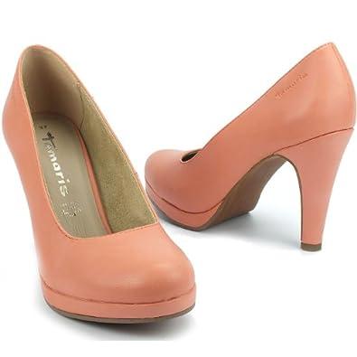 tamaris damen pumps high heels plateau decksohle leder. Black Bedroom Furniture Sets. Home Design Ideas