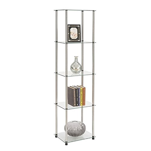 Convenience Concepts 5-Tier Glass Tower (Glass Shelves Tier compare prices)