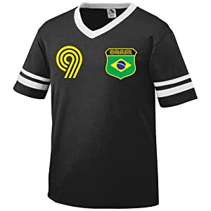 Buy Brazil Retro Soccer Jersey T-Shirt by Ghast