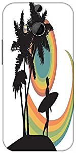 Snoogg Tropical Background Designer Protective Back Case Cover For HTC M8
