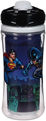 Playtex Sipsters Stage 4 Leak-Proof Sport Spout Cup Batman Superman