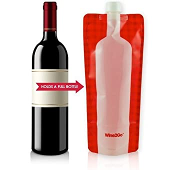 Wine2Go - The Foldable Wine Flask. Holds An Entire Bottle Of Wine