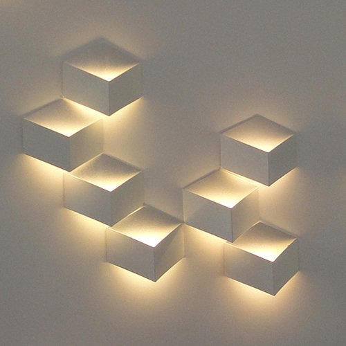 Lightinthebox 1W Modern Led Wall Light Wall Sconces Artistic Cubic Metal Shade 1 Pcs Included
