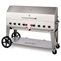 Hot Sale Crown Verity Stainless Steel Mobile Outdoor Charbroiler Grill with Liquid Petroleum Gas Connection, 60 inch -- 1 each.