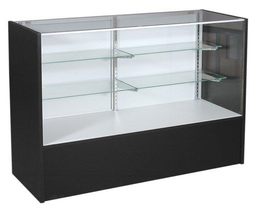 KC Store Fixtures 16307 Full Vision Showcase, 70-Inches Wide, Black (Display Case 70 compare prices)
