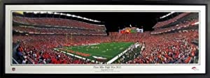 Denver Broncos First Win Mile High Stadium Panoramic Framed by Sports Gallery Authenticated
