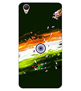 ColourCraft Flowers Design Back Case Cover for OPPO R9