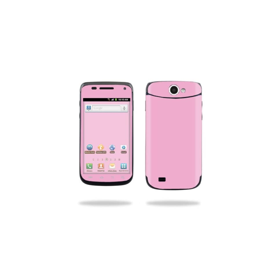 Protective Vinyl Skin Decal Cover for Samsung Exhibit II 4G Android Smartphone Cell Phone Sticker Skins Glossy Pink