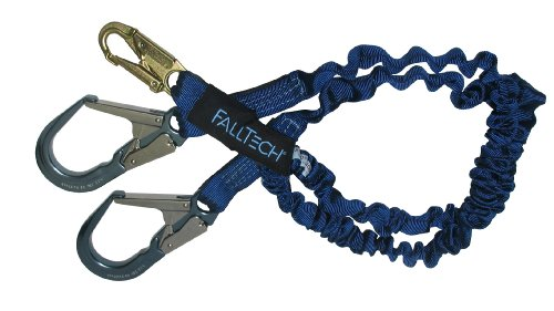 Falltech 7240Y3A Elastech 6-Foot Y-Leg Shock Absorbing Lanyard With Aluminum Rebar Hooks front-83171