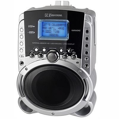 Emerson hd515 portable karaoke mp3 lyric player with 3 5 quot lyric screen