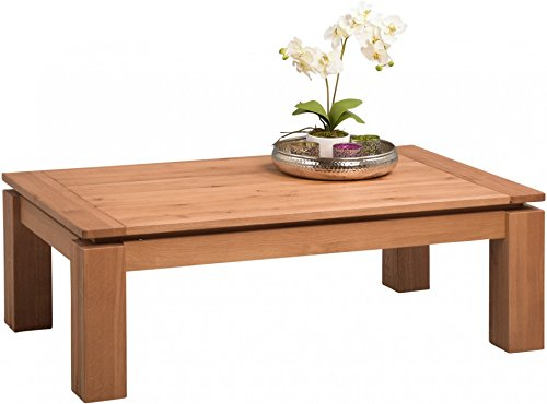HomeTrends4You 269523 Couchtisch, 118 x 40 x 70 cm, Wildeiche massiv geburstet, geölt