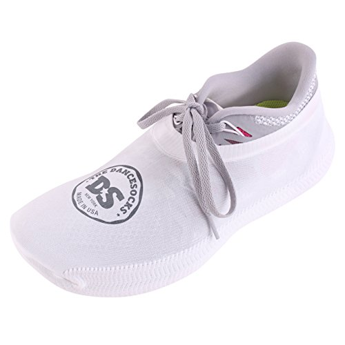 THE DANCESOCKS for Carpeted Floors | The Original | Socks that Go Over Sneakers For Dancing. (white) (Go Go Dance Shoes compare prices)