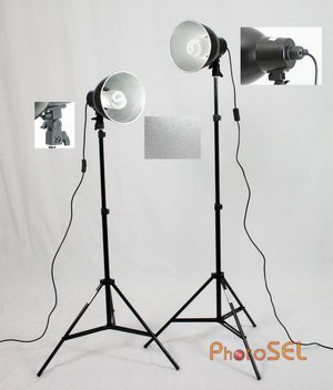 PhotoSEL LS12E42 5400K Studio Lighting Kit  2x55w