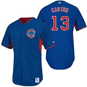 Starlin Castro Chicago Cubs #13 MLB Youth Cool Base Batting Practice Jersey