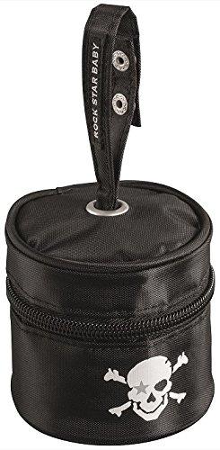 RockStar Baby Borsa igienica per riporre il ciuccio–con pratica maniglia, borsa elegante per ciuccio