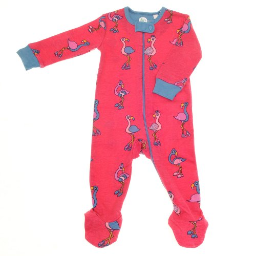 Fabulous Flamingoes Pink Zippy Suit (Baby Sleepsuit Footie Onesie with Zip)