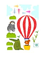 Baleno Vinilo Decorativo Balloon Ride Wall (Multicolor)