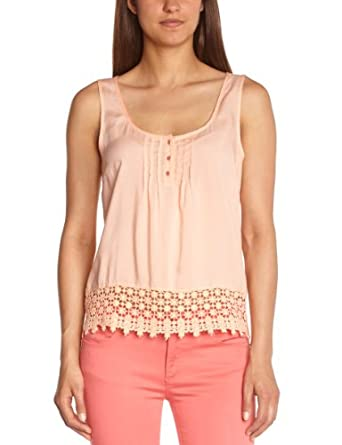 Vila - Mariana - T-Shirt - Femme - Orange (Peach Nectar) - XS