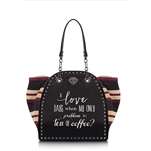 "Shopping bag Le Pandorine Classic ""Coffee"" AI16DAQ01946-08 nero"