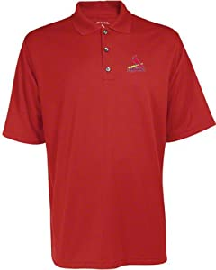 St. Louis Cardinals Exceed Desert Dry Red Polo Shirt by Antigua