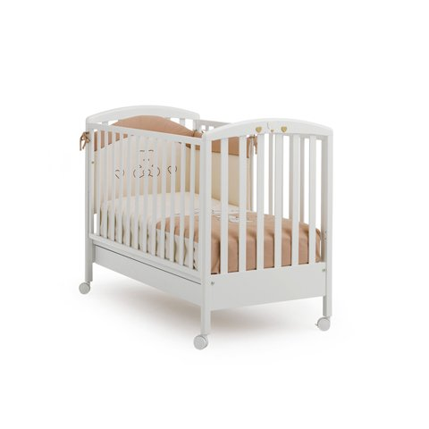 Best Deal Baby Wooden Cot Bed Crib Cuoricini MIBB Bianco ...