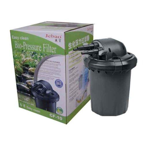 Jebao cf 10 4000 liter pressured pond bio filter uv for Cleaning pond filter