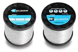 1 lb spool Bullbuster Fishing Line 1.7mm 200 lb Test Clear 194 Yards