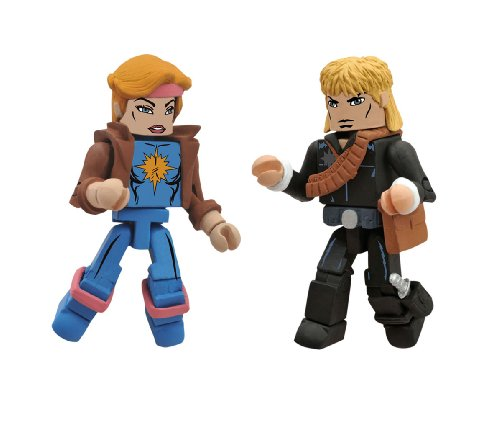 Diamond Select Toys Marvel Minimates Series 47: X-Men vs. Brood: Longshot and Dazzler, 2-Pack