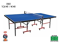 DEUCE 701 IN TABLE TENNIS TABLE ( With Free Stag TT Bats and Balls )