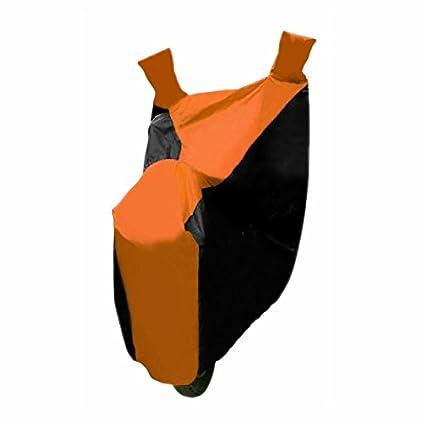 Speed-Bike-Body-Cover-(Orange-and-Black)-Bajaj-Discover-125