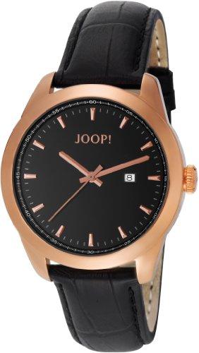 Joop  Essential - Reloj de cuarzo para hombre, con correa de cuero, color negro