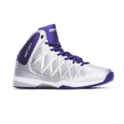 AND1 Kids UNBREAKABLE MID Basketball Shoe 7 Silver