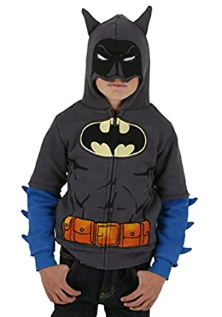 Little Boys' Grey Batman Costume Hoodie