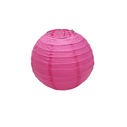 Elife 10Pcs 8Inches Indoor/Outdoor Chinese/Japanese Paper Lanterns/Lamps For Fun/ Wedding Birthday Party Decorations (10 Hot Pink)