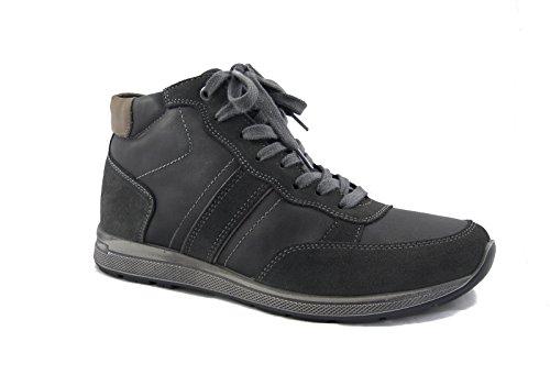 Stivaletto uomo Imac, sneaker in pelle con lacci, suola gomma antiscivolo-41860