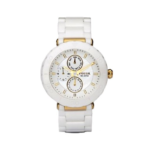 where to buy fossil s ce1004 white ceramic and gold